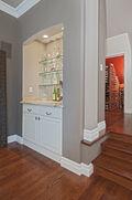 Granite bar & wine closet
