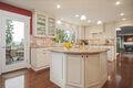 Gourmet kitchen, breakfast area & family room