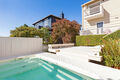 Back deck & pool