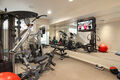 Work out room & 4 or 6 car garage